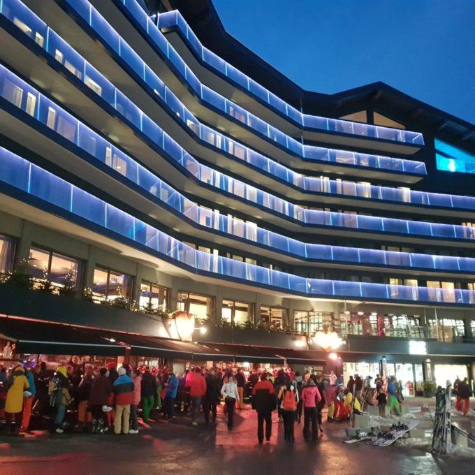 Après le ski, dans le centre ville de Ischgl