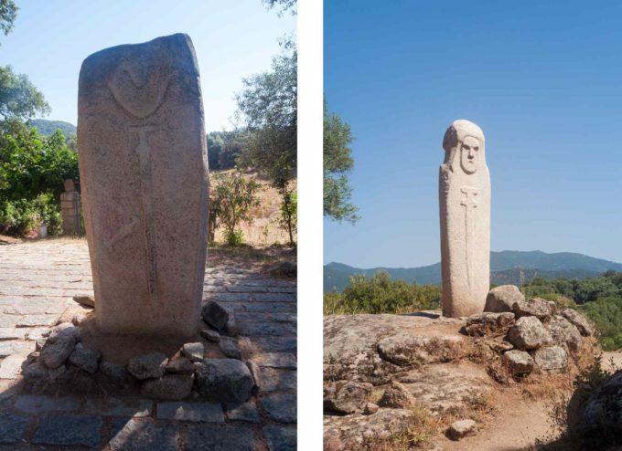 Sépulture sous des pierres sculptées