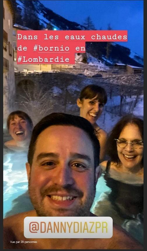 Notre groupe dans les thermes de Bormio