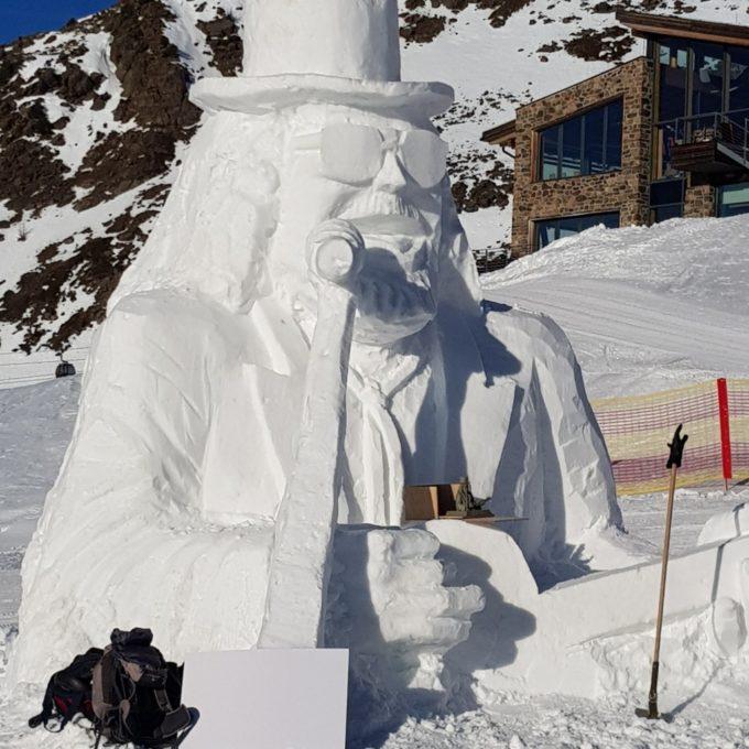 statue de neige