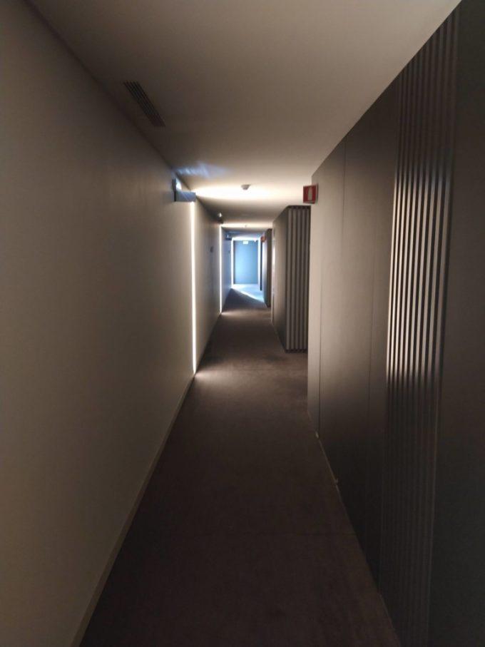 Le couloir pour accéder à la chambre