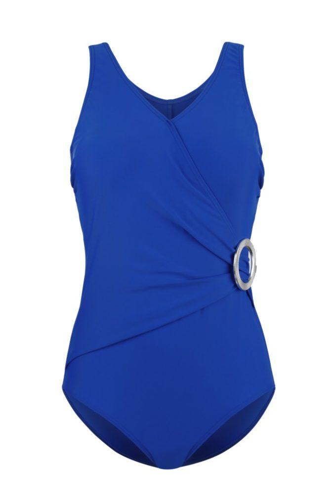 Coupe portefeuille en bleu marine pour ce maillot de bain une pièce