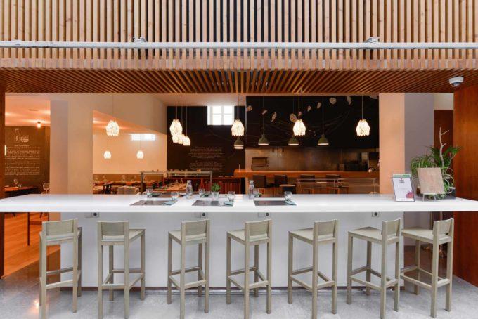 Le restaurant du Inspira Santa Marta hôtel à Lisbonne