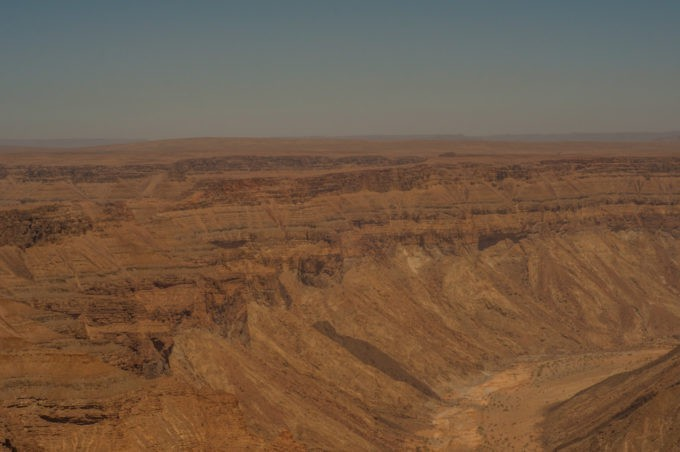 Les parois de Fish River Canyon