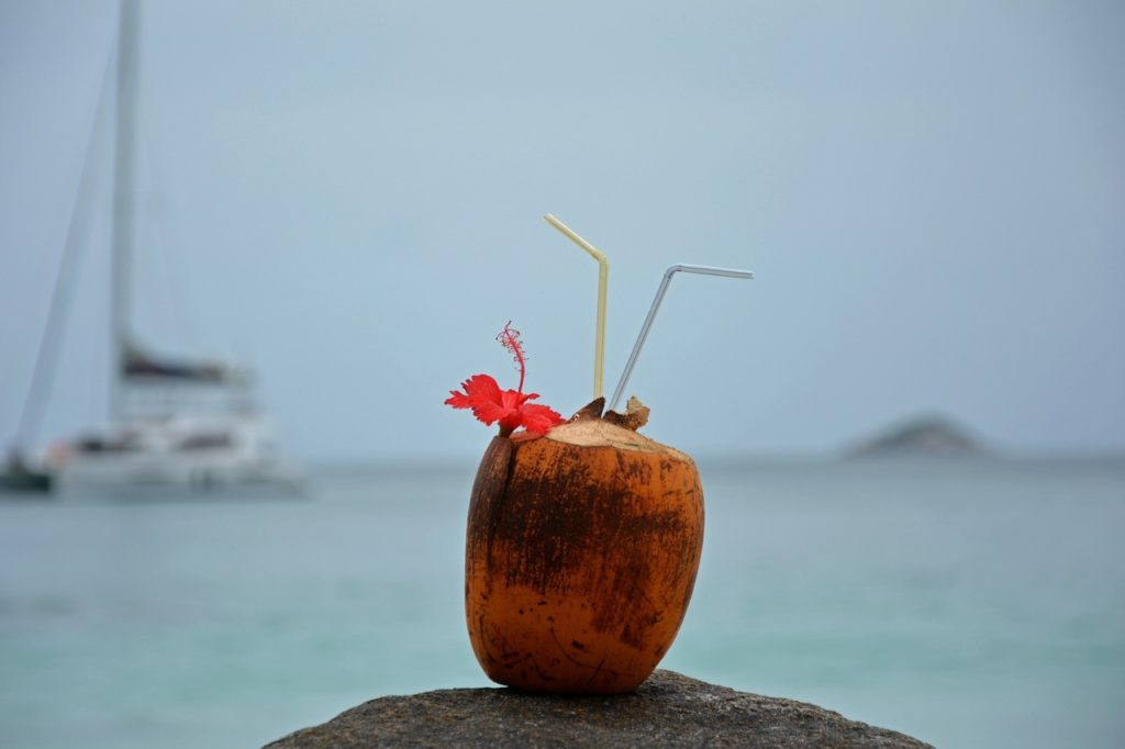 Un cocktail sur la plage