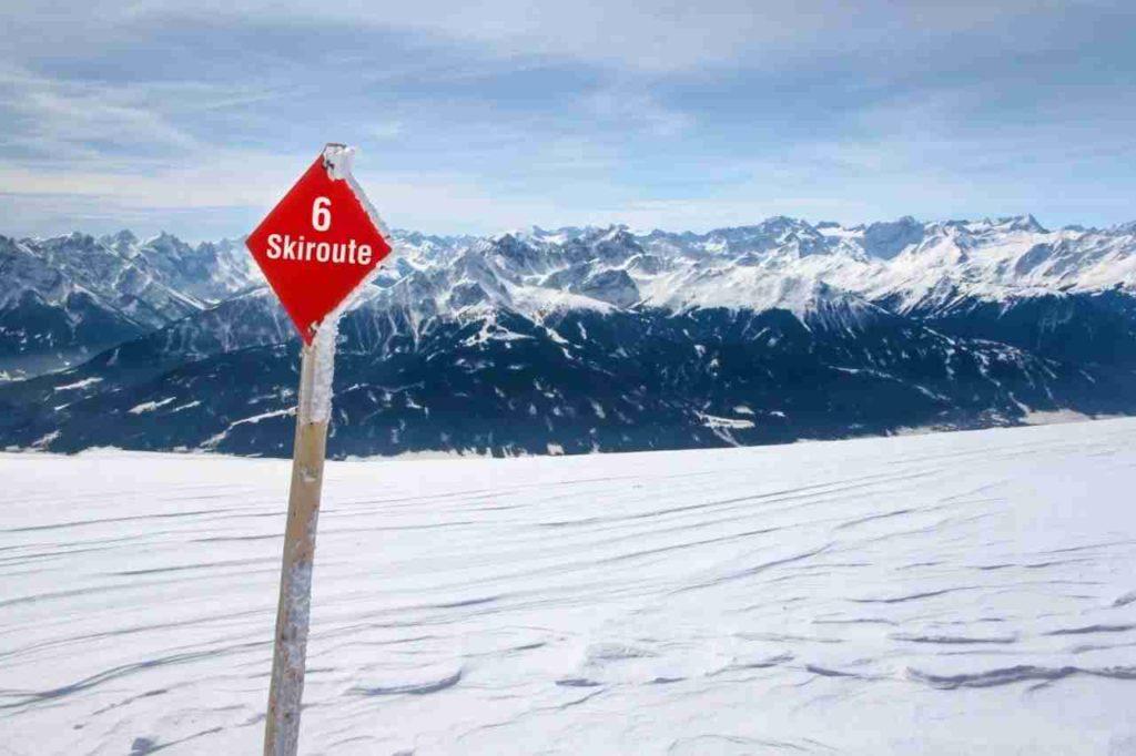 Sur la route du ski