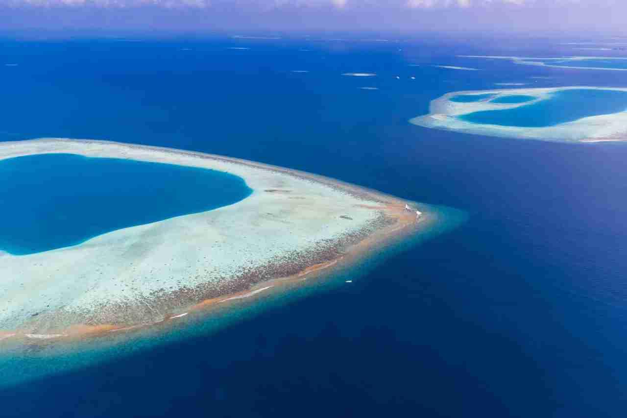 les iles des maldives vues du ciel