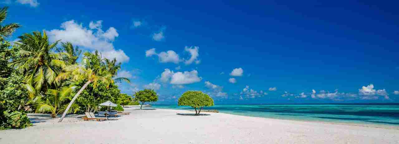 plage paradisiaque aux maldives