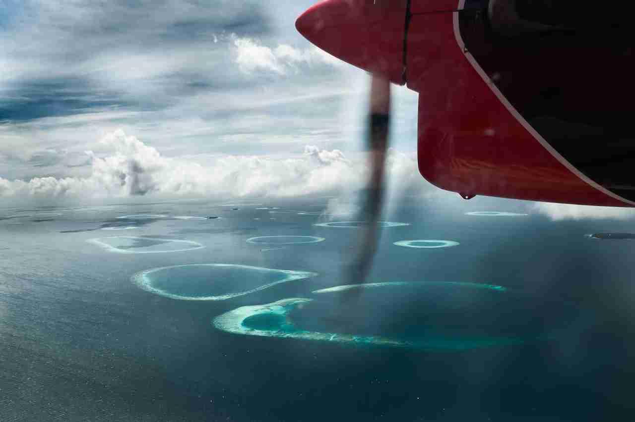 les maldives vues du ciel