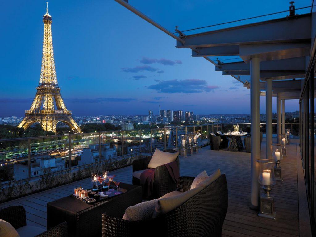 Terrasse Shangri la Paris