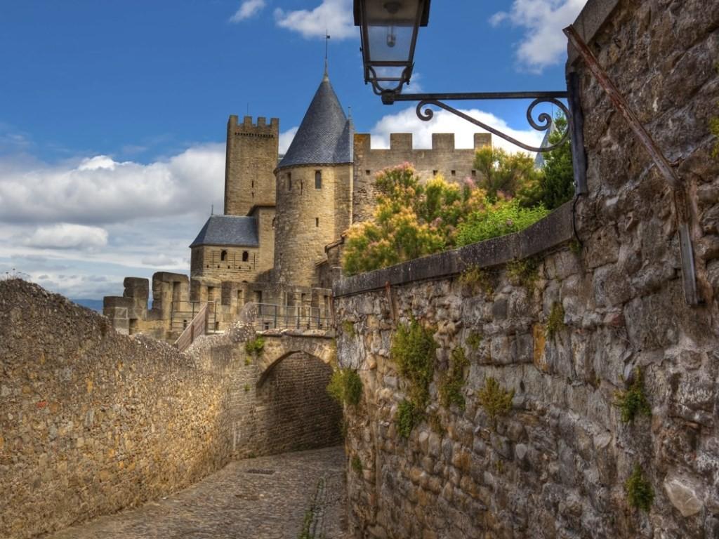 Vue sur la forteresse de Carcassonne