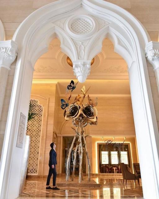 Arcade dans le lobby hôtel Qatar