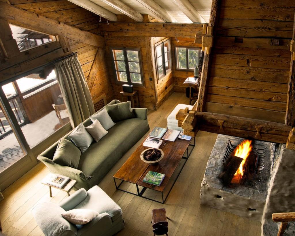 Living room Le chalet Zannier