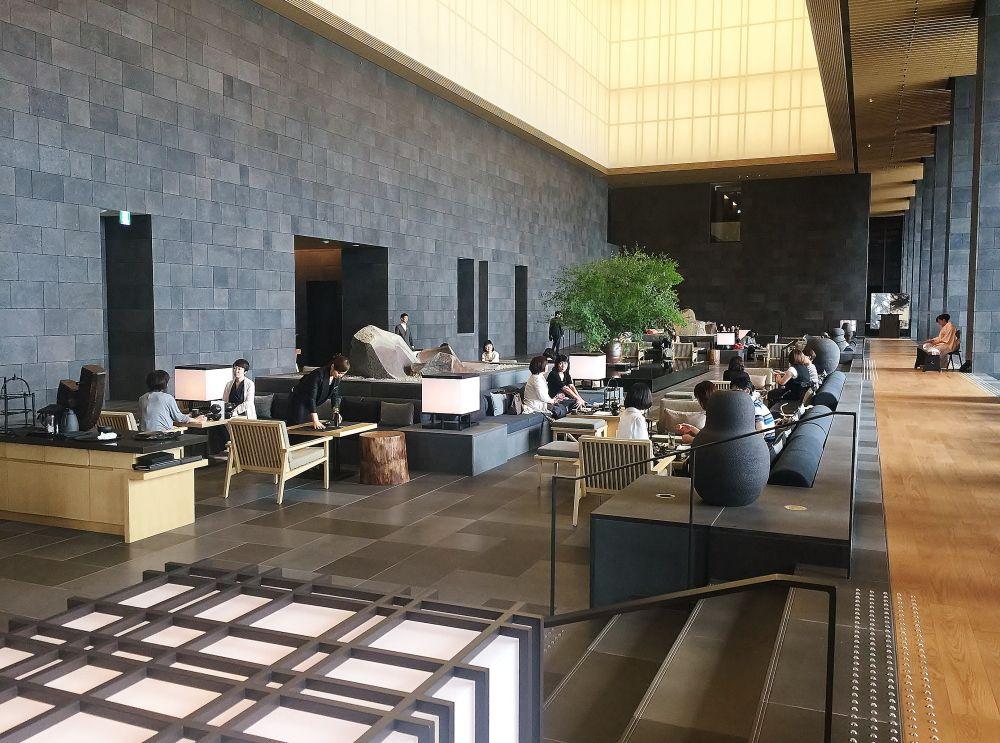 Salon du Hall d'entrée Aman Tokyo