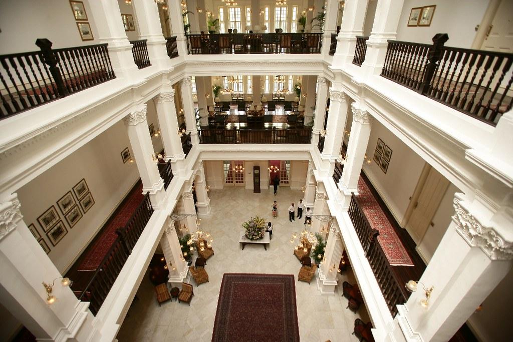 Hall lobby Hôtel Raffles Singapour