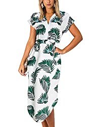 Robe de plage à motif tropical