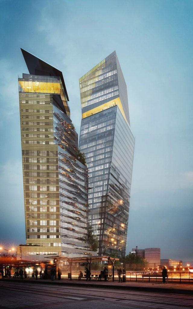 Un hôtel suspendu au sommet des tours Duo