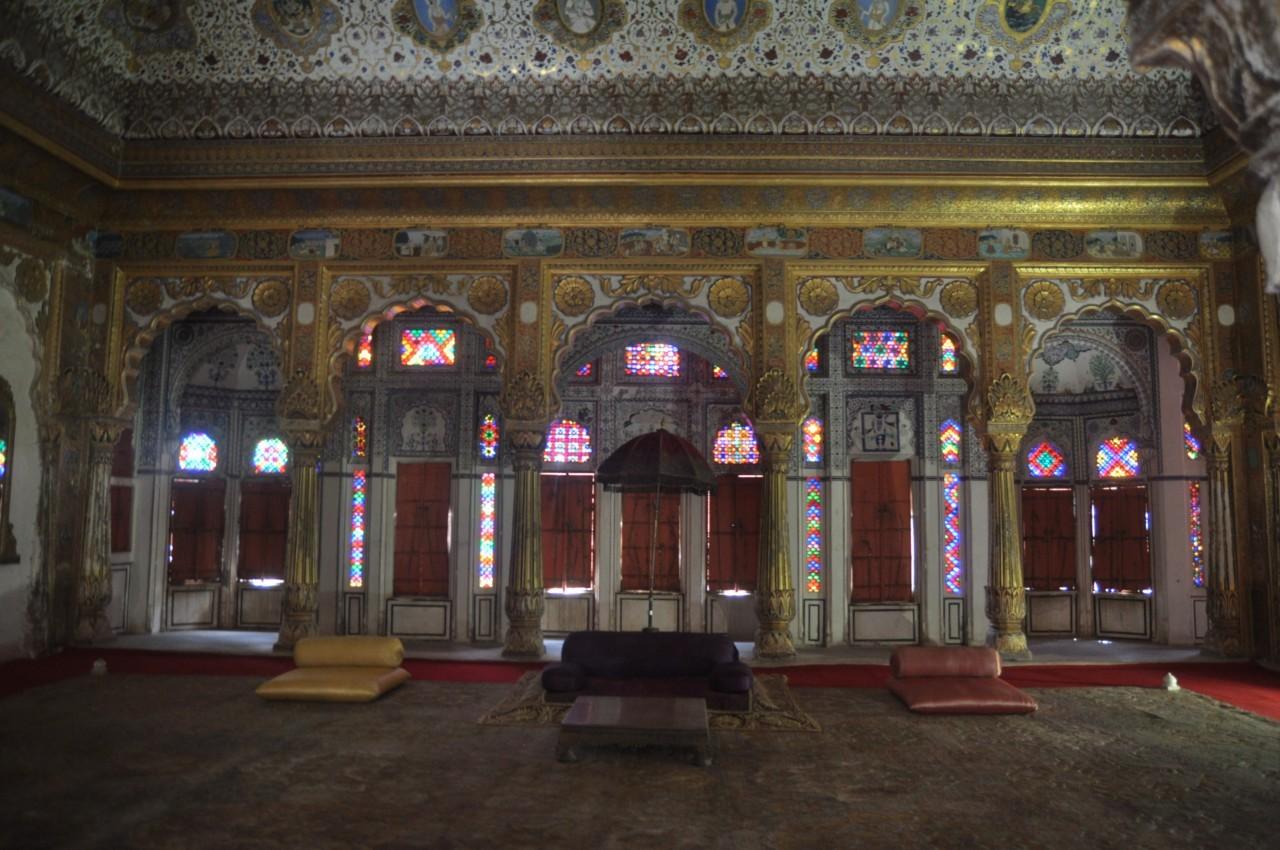 Dans les salles du fort de Jodhpur