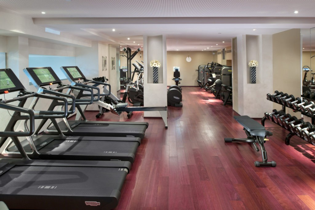 La salle de fitness du Spa Mandarin Oriental Paris