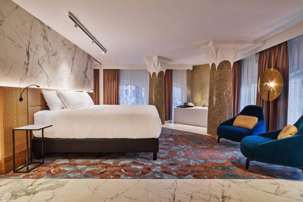 Une chambre Hard Rock Hôtel à Amsterdam