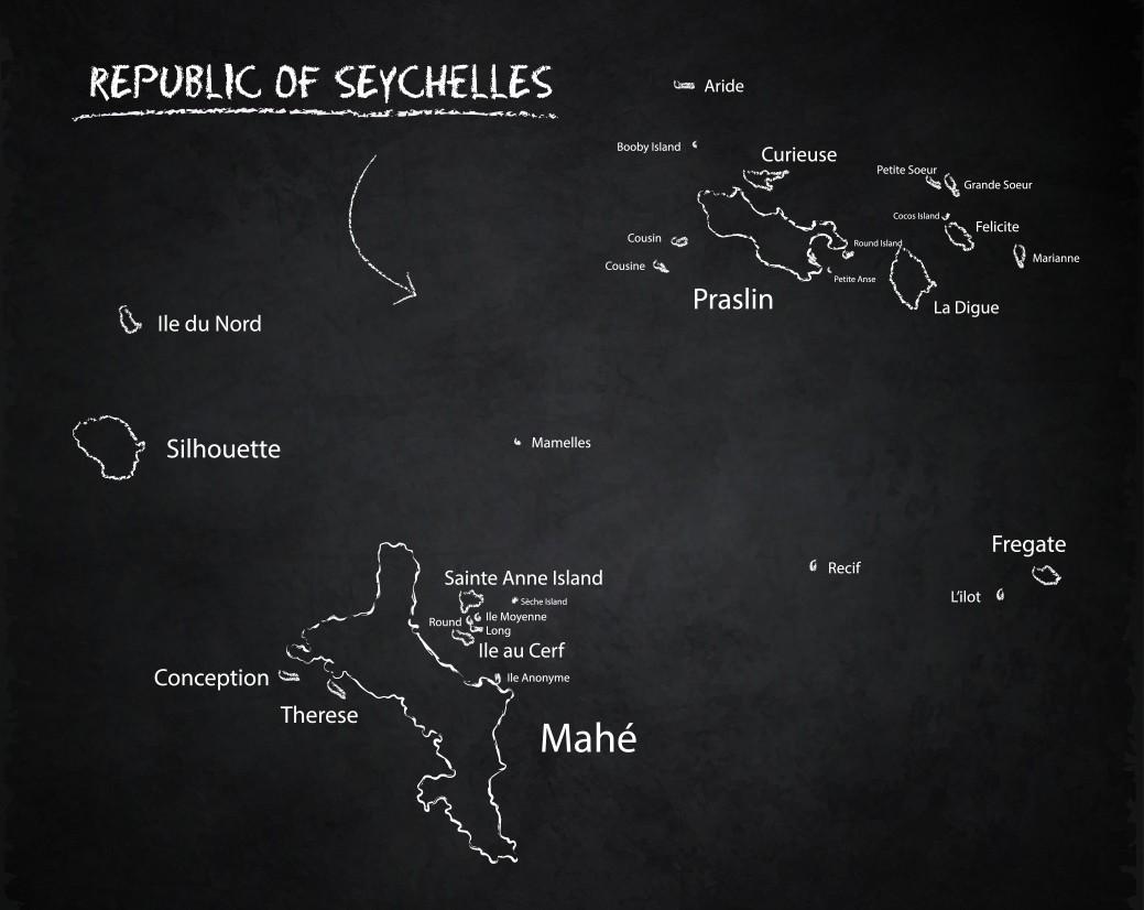Plan des Seychelles