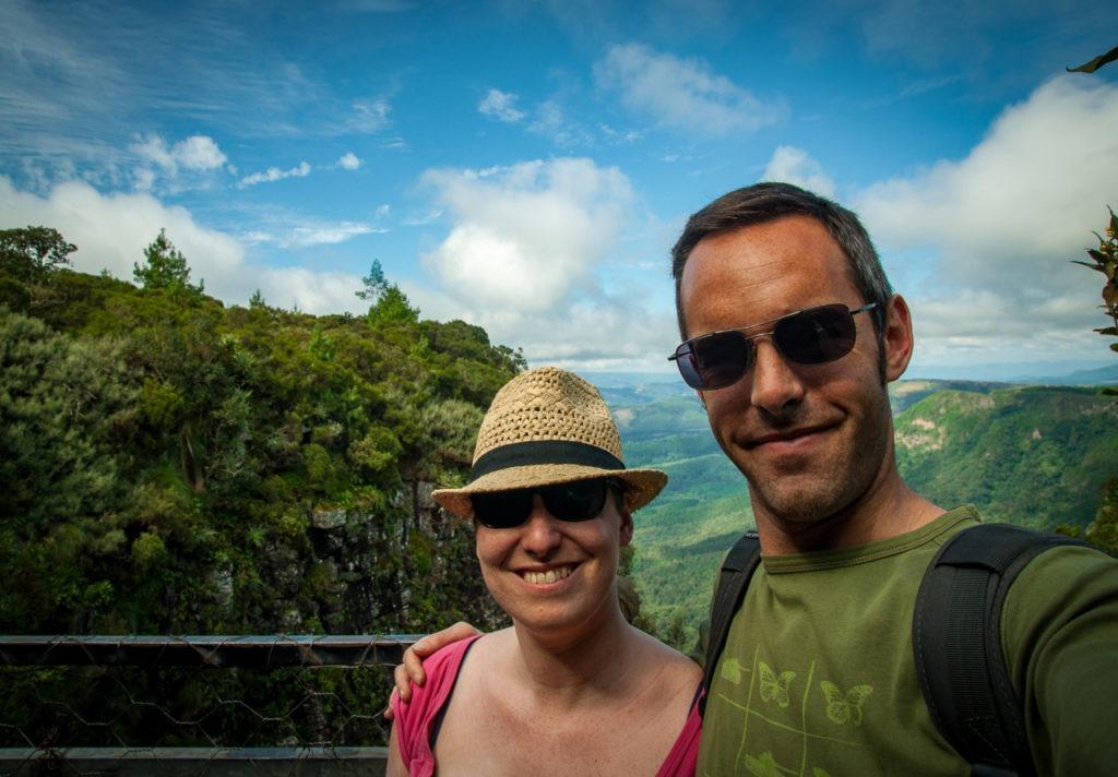 Julien et moi à Blyde River Canyon