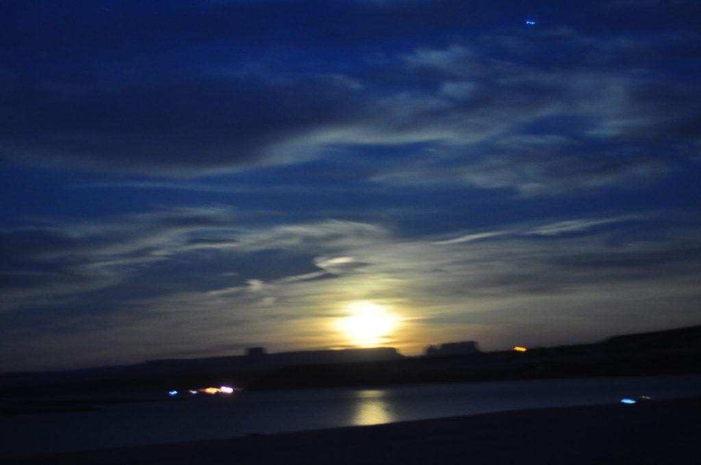 Nous arrivons dans l'obscurité la plus totale à Lake Powell