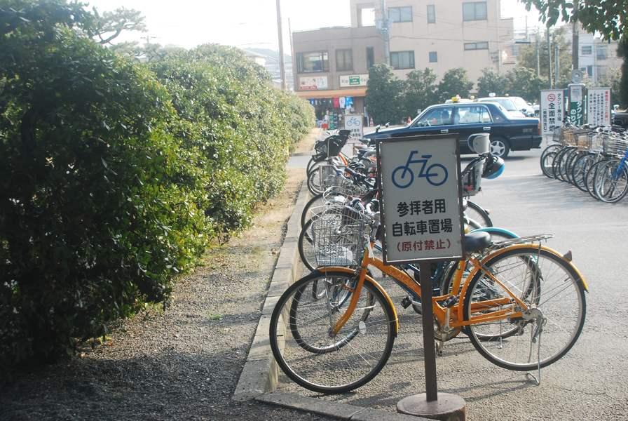 Les vélo rangés
