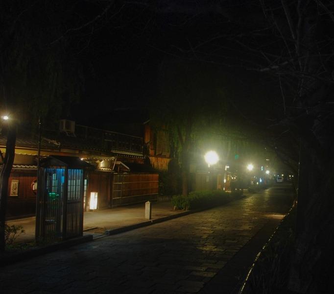 Les rues calmes à Gion