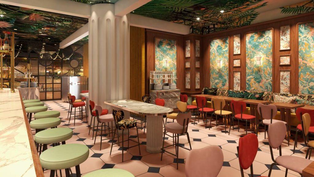 La salle de restaurant du Mama Roma