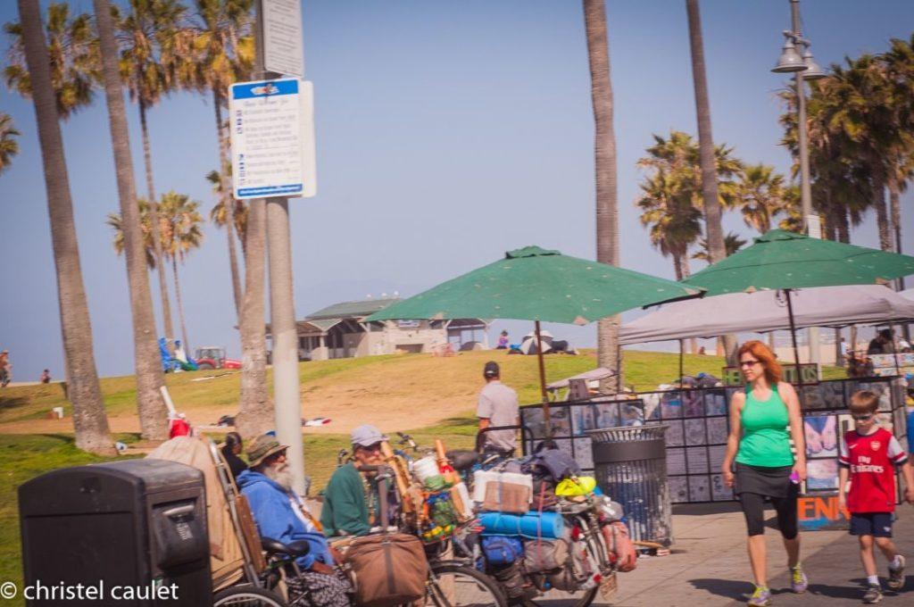 Lieu de rassemblement populaire à Venice Beach usa
