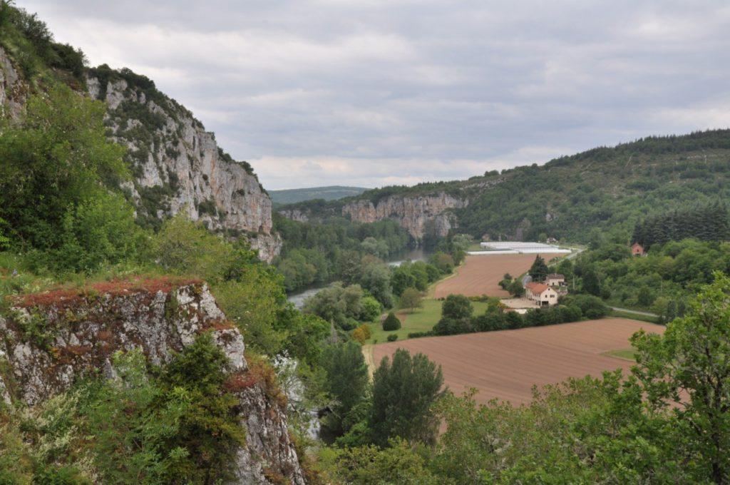 Les pitons rocheux de Saint Cirq-Lapopie