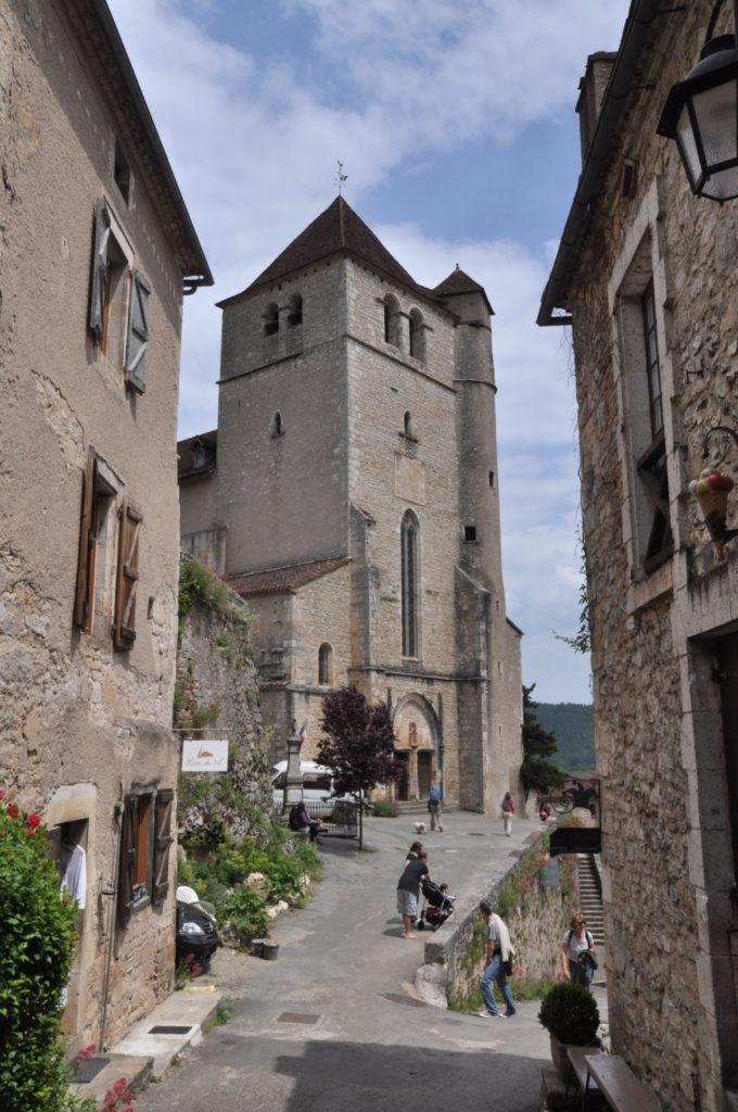 L'église de Saint Cirq-Lapopie