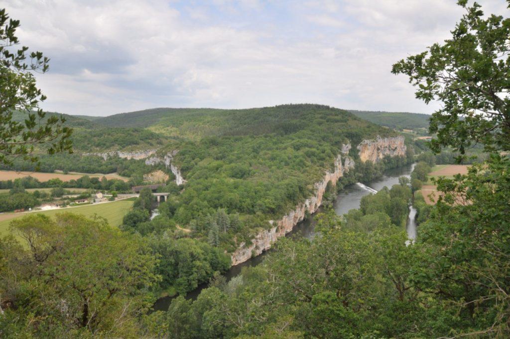 Les falaises de la vallée du Lot