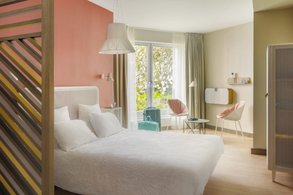 Dans la nouvelle version des chambres OKKO Hôtel