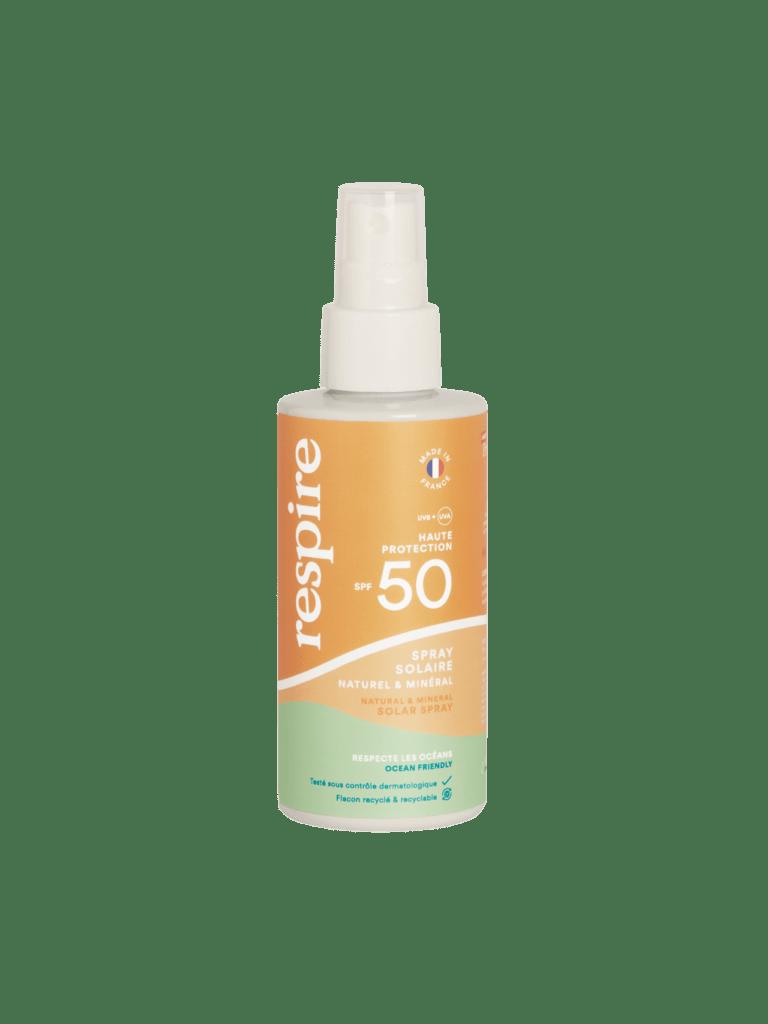 Un bon spray solaire Respire pour affiner mon bronzage