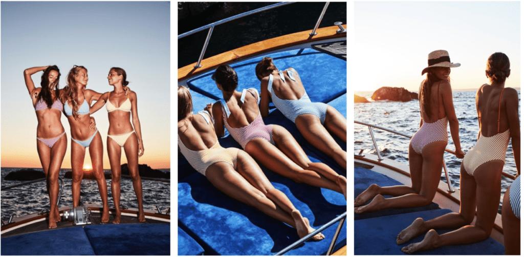 Bikini ou une pièce, le maillot Anja se décline en rayures, cet été