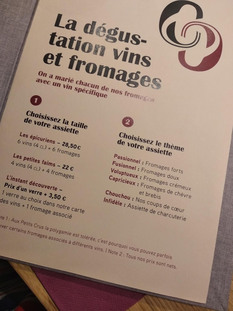 Dégustations fromages & vins