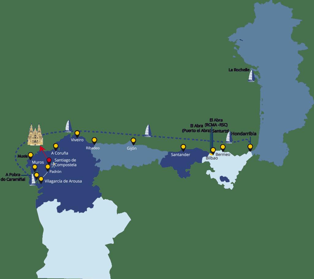 Carte d'Espagne de navigation