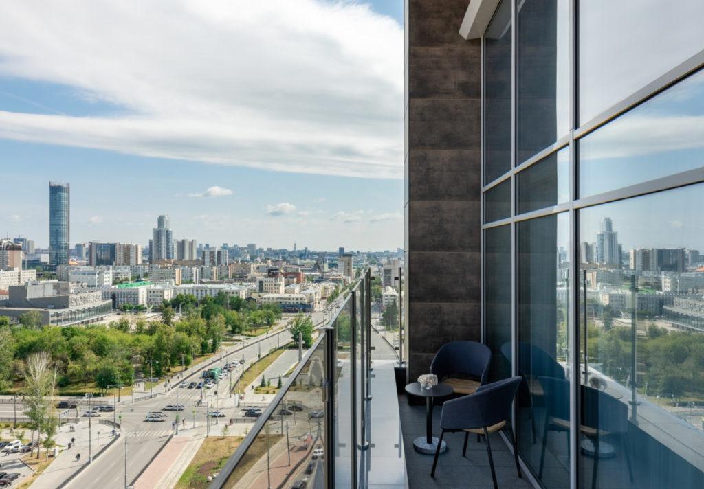 Vue panoramique depuis le Hyatt Place Ekaterinburg