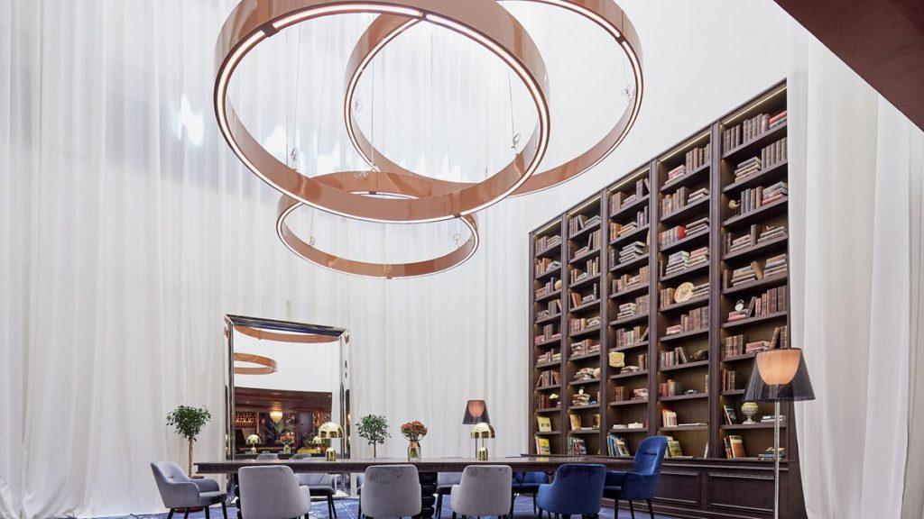 L'espace bibiothèque du Kempinsky hôtel Bahia