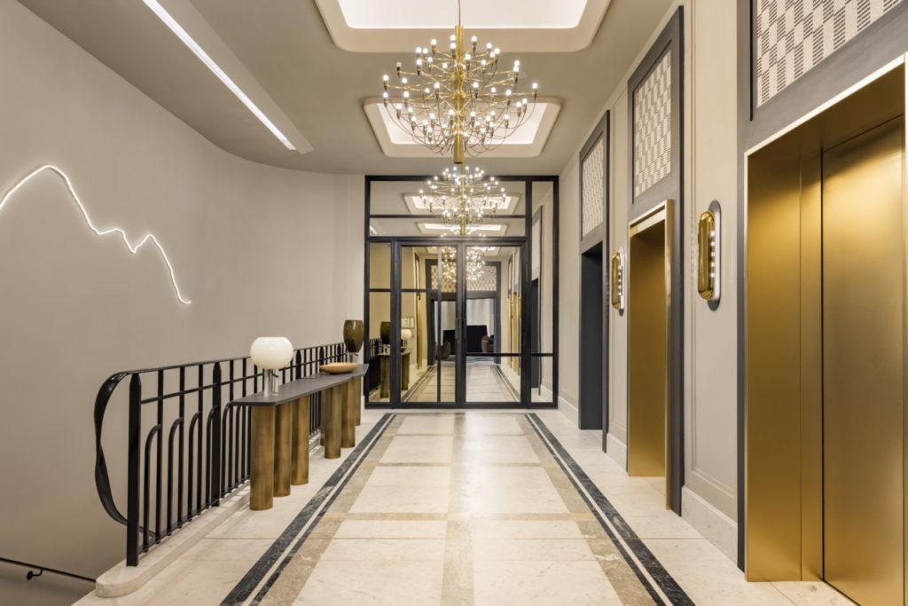 Dans les couloirs du Kimpton hôtel Saint Honoré
