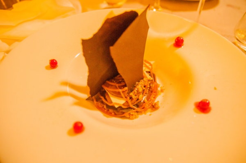 Mousse chocolaté avec caramel de beurre salé
