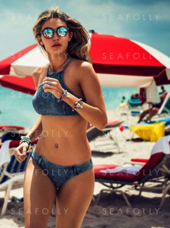 Bikini deux pièces avec Gigi Hadid pour Seafolly