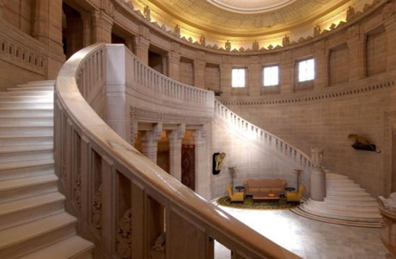 Escalier magistral - Umaid Bhawan Palace - Jodhpur