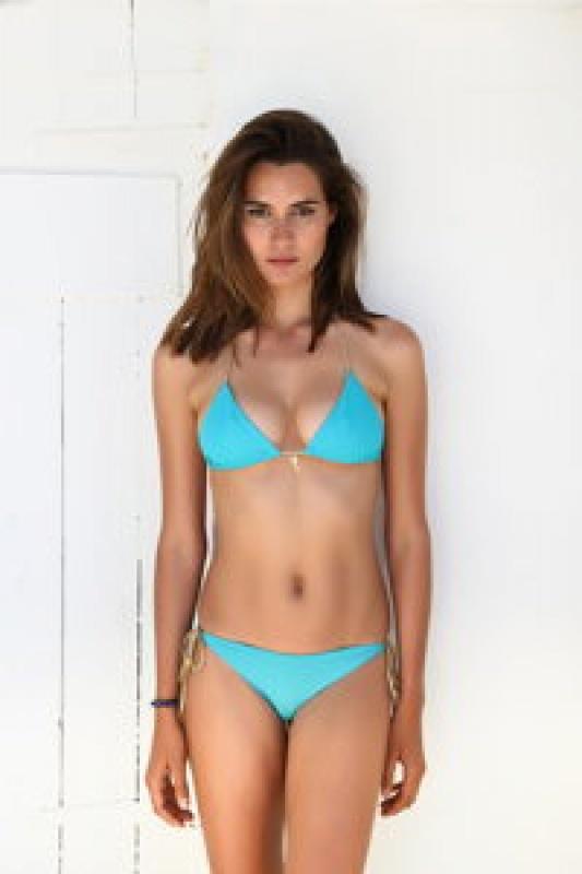 Maillot de bain bleu turquoise Béliza