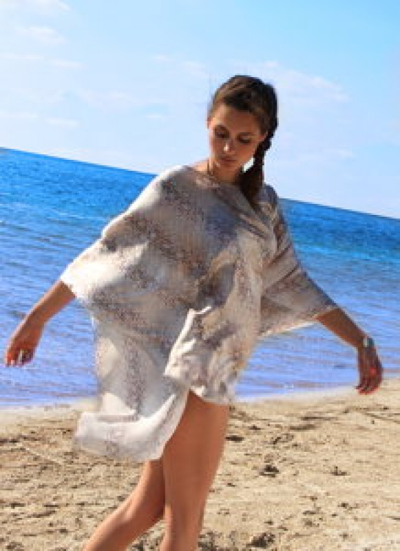 Robe de plage imprimée serpent Beliza