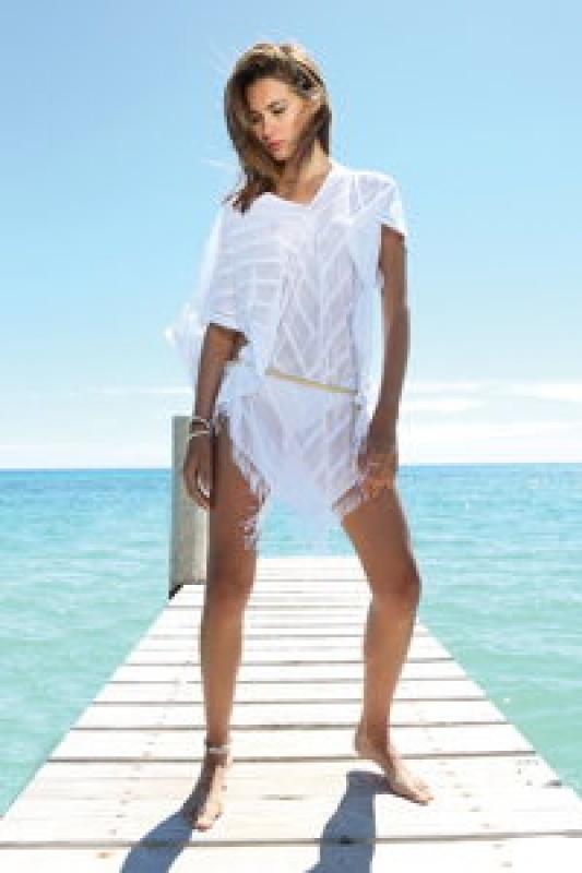 Robe de plage blanche Beliza