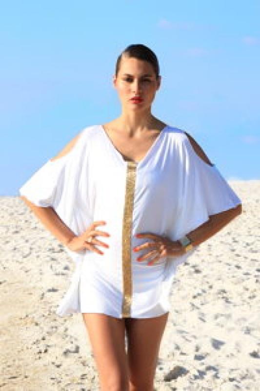 Robe de plage blanche Béliza