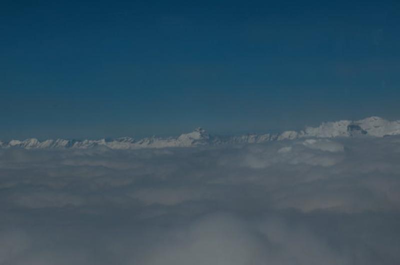 Une mer de nuages au Mont Blanc